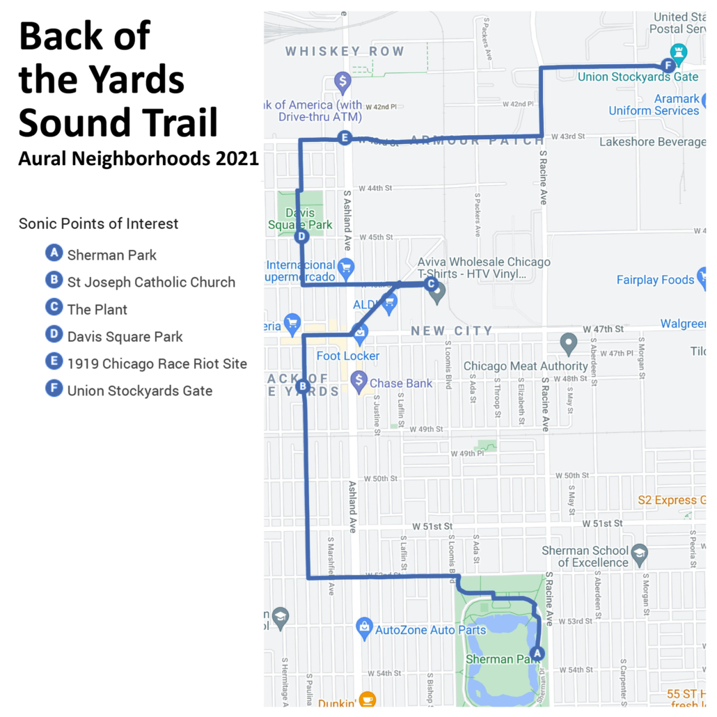 Back of the Yards Sound Trail Map